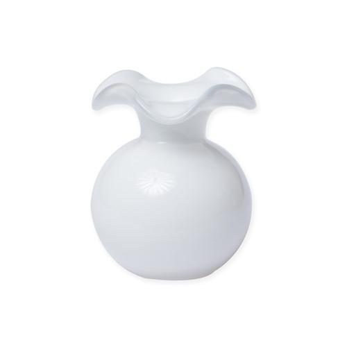 Vietri Italian Tableware Gift with Purchase: Vietri Hibiscus Glass White Bud Vase