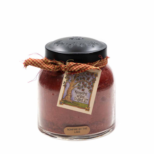 Bonfire By The Lake 34 oz. Papa Jar Keeper's of the Light Candle by A Cheerful Giver