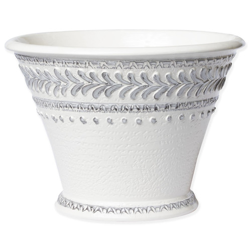 Vietri Blue Mosaic Large Fluted Cachepot - Special Order