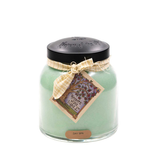 Day Spa 34 oz. Papa Jar Keeper's of the Light Candle by A Cheerful Giver