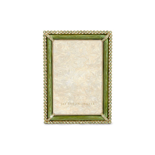 """Jay Strongwater Lorraine Stone Edge 4"""" x 6"""" Frame - Special Order"""