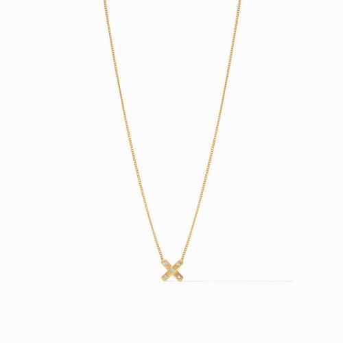 Julie Vos Paris x Charm Necklace - Gold Cz