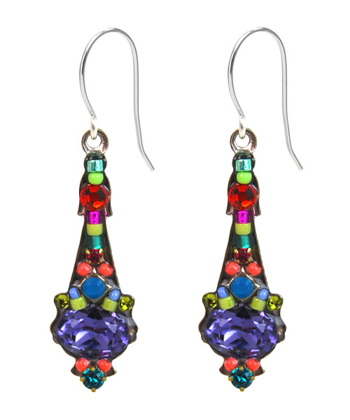 Multi-Color Mosaic Earring 6690 - Firefly Jewelry