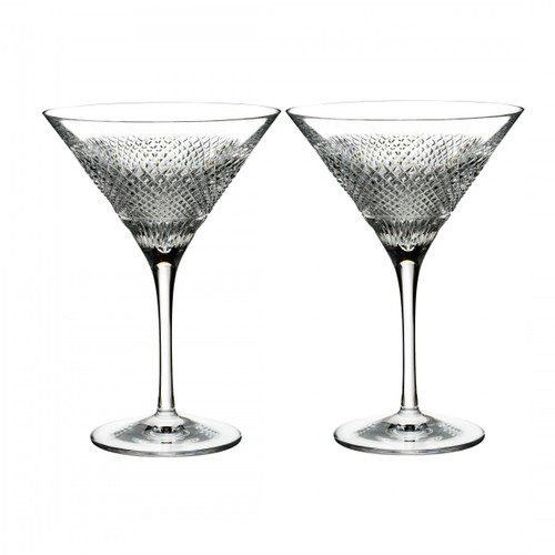 Diamond Line Martini Pair by Waterford - Special Order