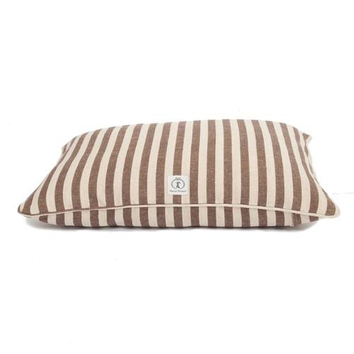 Medium Brown Vintage Stripe Envelope Dog Bed Cover by Harry Barker - Special Order