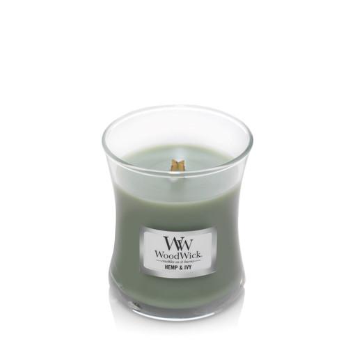 Hemp & Ivy WoodWick Mini Jar Candle