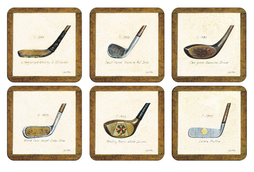 Set of 6 A History of Golf Coasters by Pimpernel - Special Order