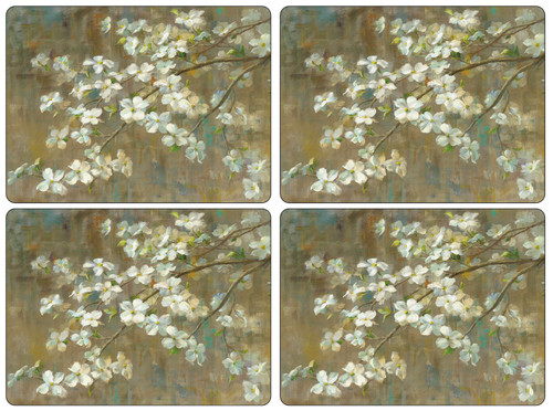 Set of 4 Dogwood In Spring Placemats by Pimpernel - Special Order