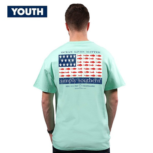 Medium Ocean Lives Matter YOUTH Unisex Short Sleeve Tee by Simply Southern