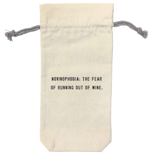 Novinophobia Wine Bag by Sugarboo Designs - Special Order