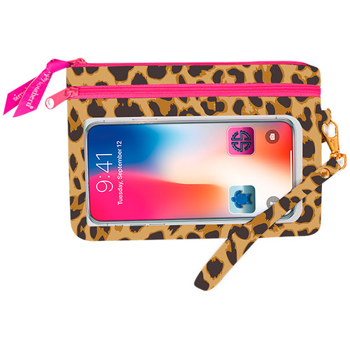 Leopard Cream Phone Wristlet by Simply Southern