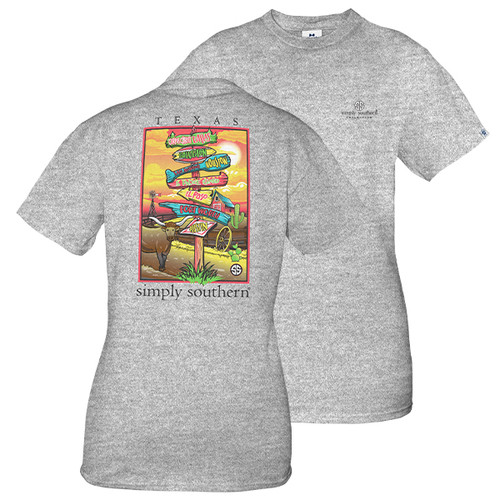 Small Texas Short Sleeve State Tee by Simply Southern