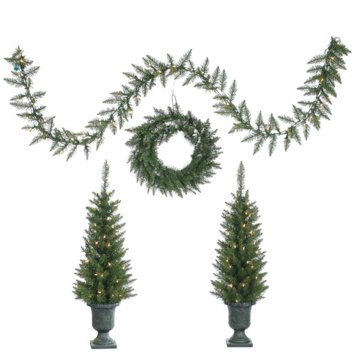 Set of 4 Norway Pine by Sterling Tree