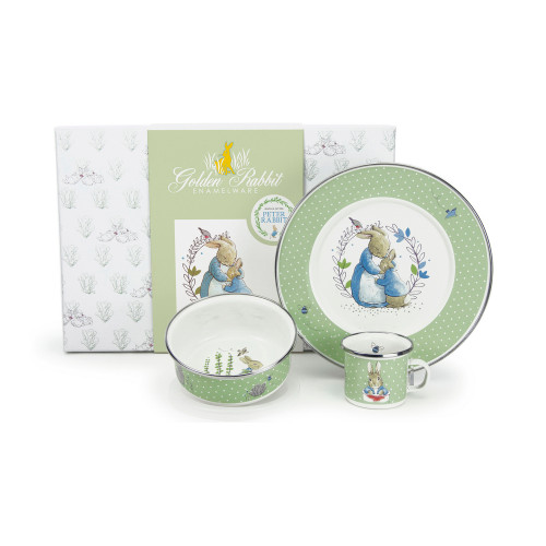 Polka Dot Peter 3-Piece Child Gift Set by Golden Rabbit - Special Order