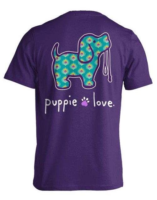 Small Peacock Pup Short Sleeve Tee by Puppie Love