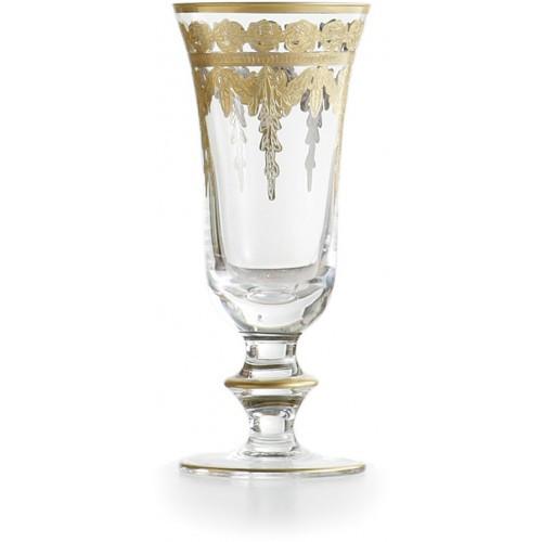 Vetro Gold Flute Glass - Arte Italica