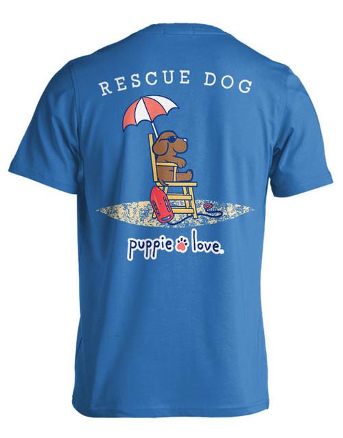 Medium Sapphire Rescue Pup Short Sleeve Tee by Puppie Love