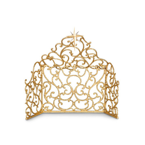 Jay Strongwater Scroll Creche - Gold - Special Order