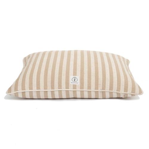 Medium Tan Vintage Stripe Envelope Dog Bed Cover by Harry Barker - Special Order