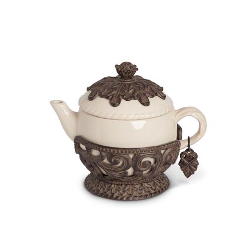 32 oz. Tea Pot-Cream - GG Collection