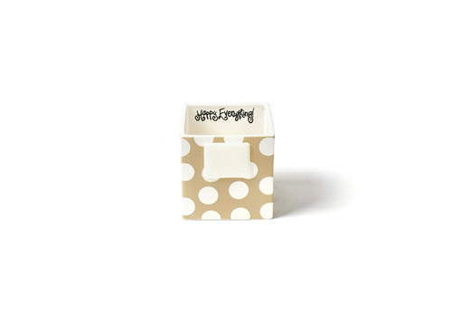 Neutral Dot Mini Nesting Cube Small by Happy Everything!