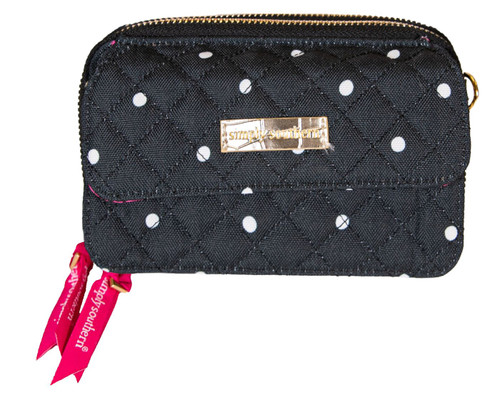 Dots Quilted Phone Cross Body Wallet By Simply Southern