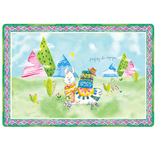 """Enjoy the Journey Anti-Slip 17"""" x 11.5"""" Placemat by Baby Cie"""