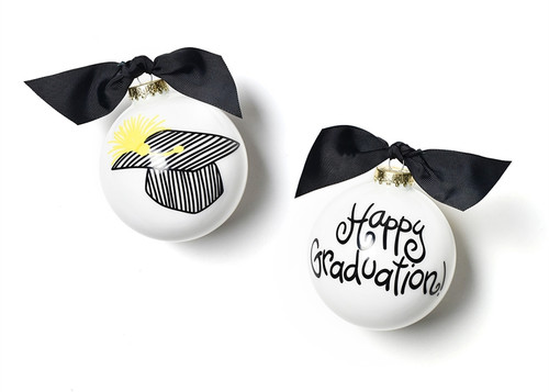 Happy Graduation Glass Ornament by Happy Everything!