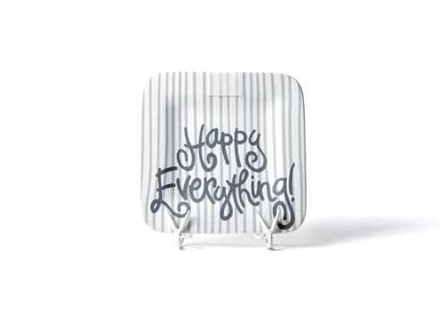 Stone Skinny Stripe Mini Square Platter by Happy Everything!