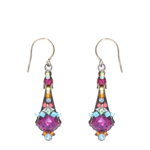 Fuschia Mosaic Earrings 6690 - Firefly Jewelry