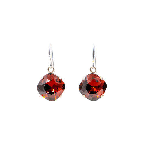 Limited Edition Burgundy Small Round Earrings - Firefly Jewelry