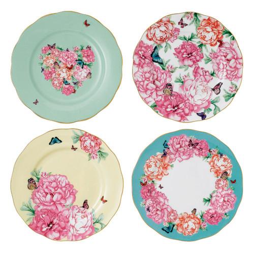 Miranda Kerr Mixed Patterns Accent Plates - Set of 4 - by Royal Albert - Special Order