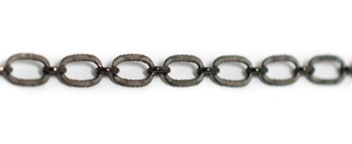 """Oxidized Sterling Silver Oval Chain - 16"""" by Beaucoup Designs"""