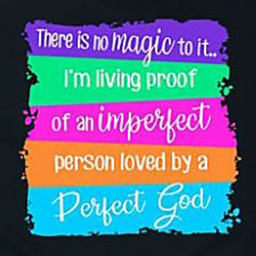 Large Imperfect Person, Perfect God Tee by Emory Lane