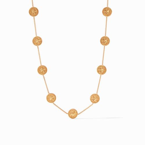 Julie Vos Coin Demi Station Necklace - Gold Cz
