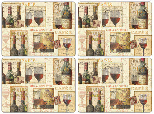 Set of 4 French Cellar Placemats by Pimpernel - Special Order