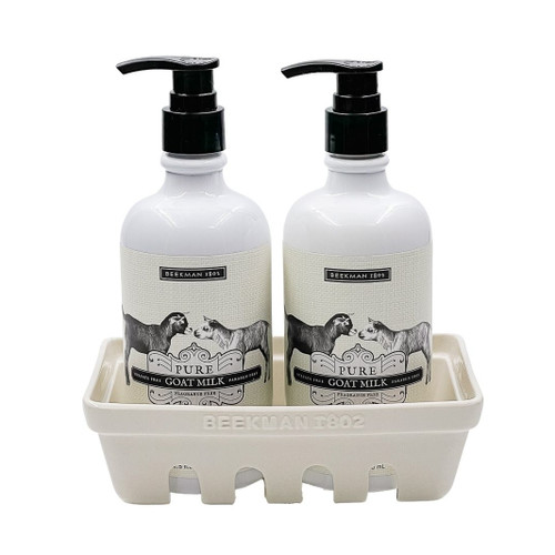Pure Goat Milk Hand Care Duo Caddy Set by Beekman 1802