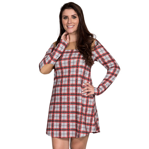 Small Heather Grey Montana Dress by Simply Southern