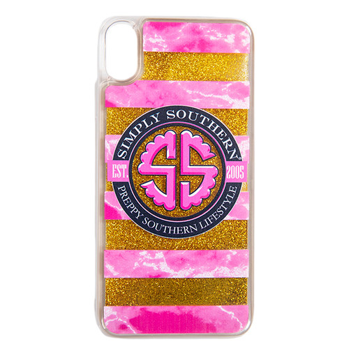 Logo Gold Liquid Glitter iPhone XR Phone Case by Simply Southern