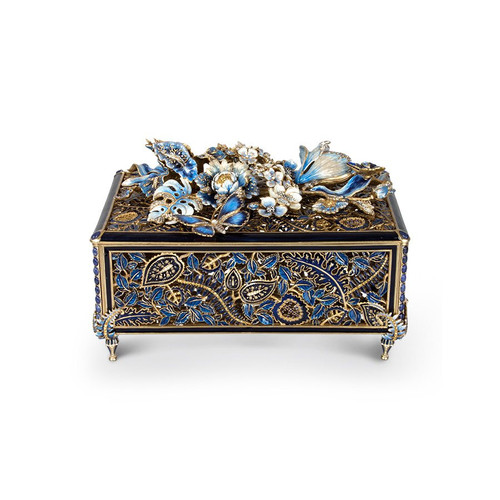 Jay Strongwater Genevieve Grand Floral Chest - Special Order