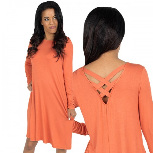 XXLarge Ginger Cross Back Dress by Simply Southern