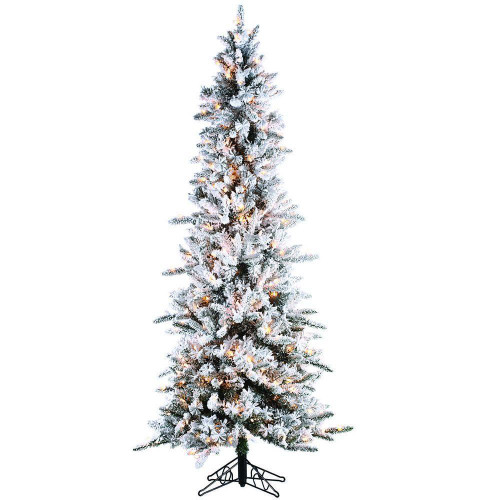 Narrowed Flocked 7.5 ft. Pencil Pine by Sterling Tree