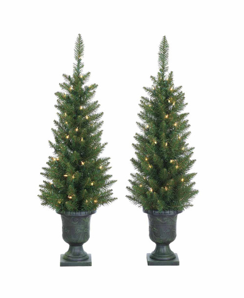 Set of 2 Potted 3.5 ft. Norway Pine Trees by Sterling Tree