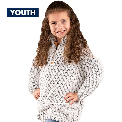 Youth Large Heather Gray Simply Fuzzy Pullover by Simply Southern