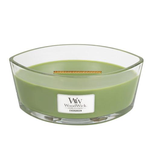 Evergreen WoodWick Candle 16 oz. HearthWick Flame