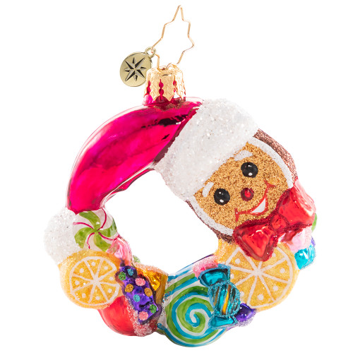 Swirling With Sweets Wreath Gem Ornament by Christopher Radko
