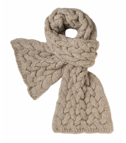 Heather Cable Knit Scarf by Spartina 449