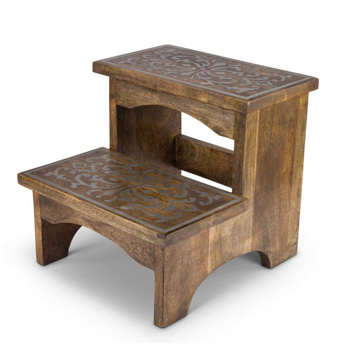 Heritage Wood & Metal Step Stool - GG Collection