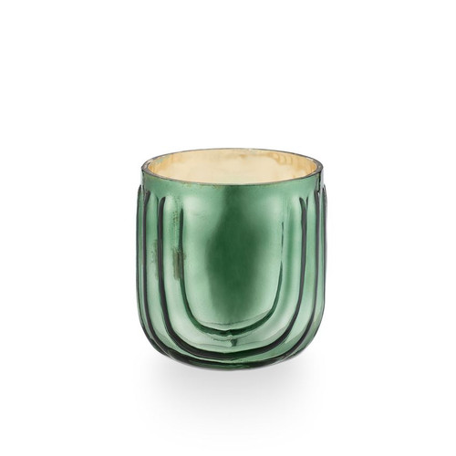 Ever Green Pressed Glass Illume Candle