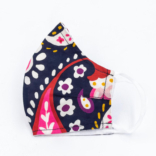 Painted Paisley Cotton Face Mask by Vera Bradley